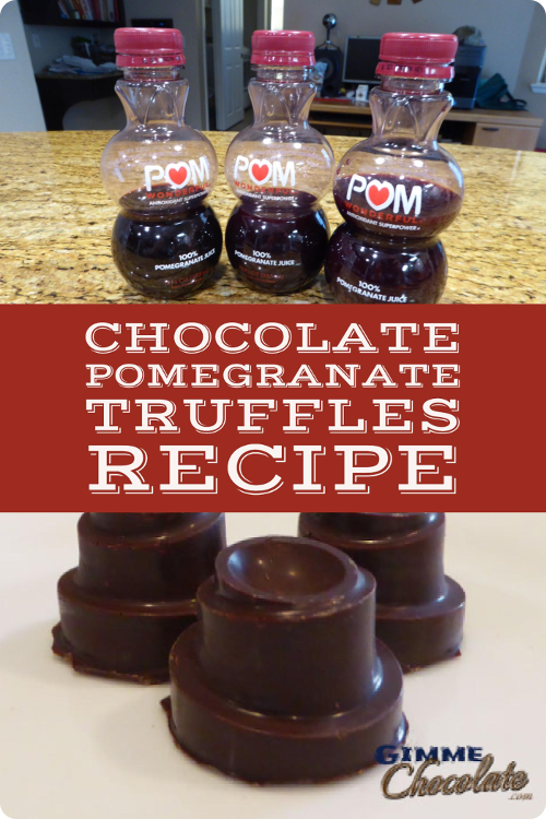 homemade pomegranate truffles