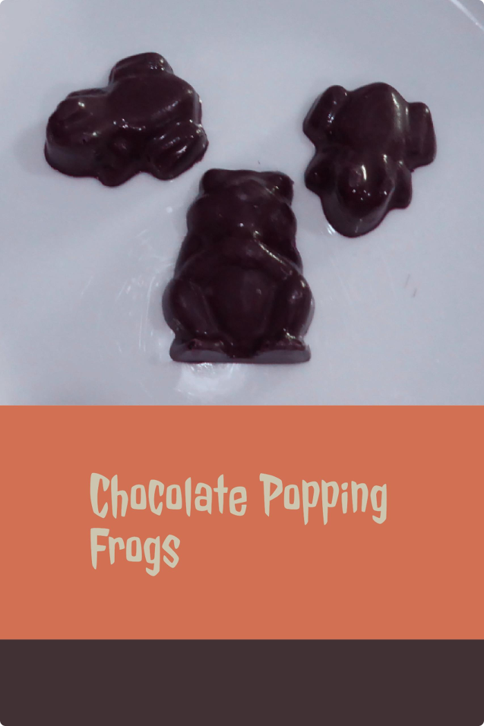 chocolate popping frogs
