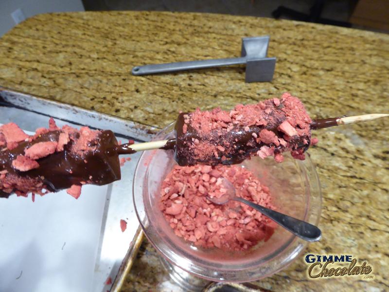 sprinkle freeze dried strawberries