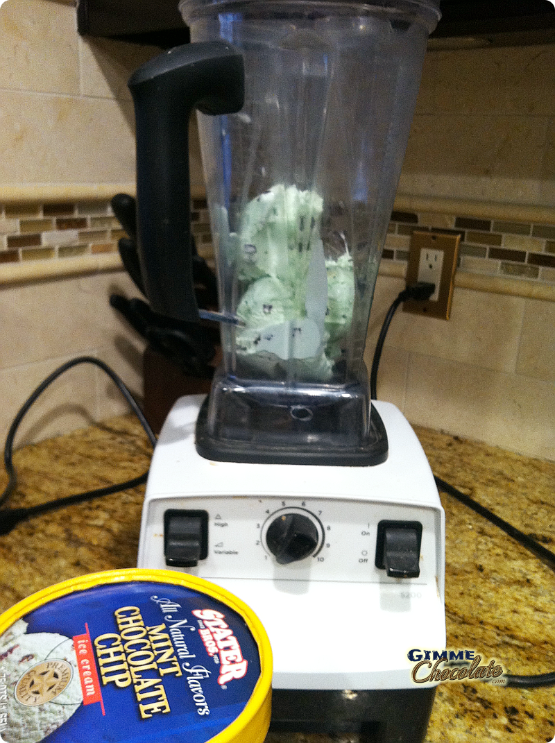 ice cream in blender