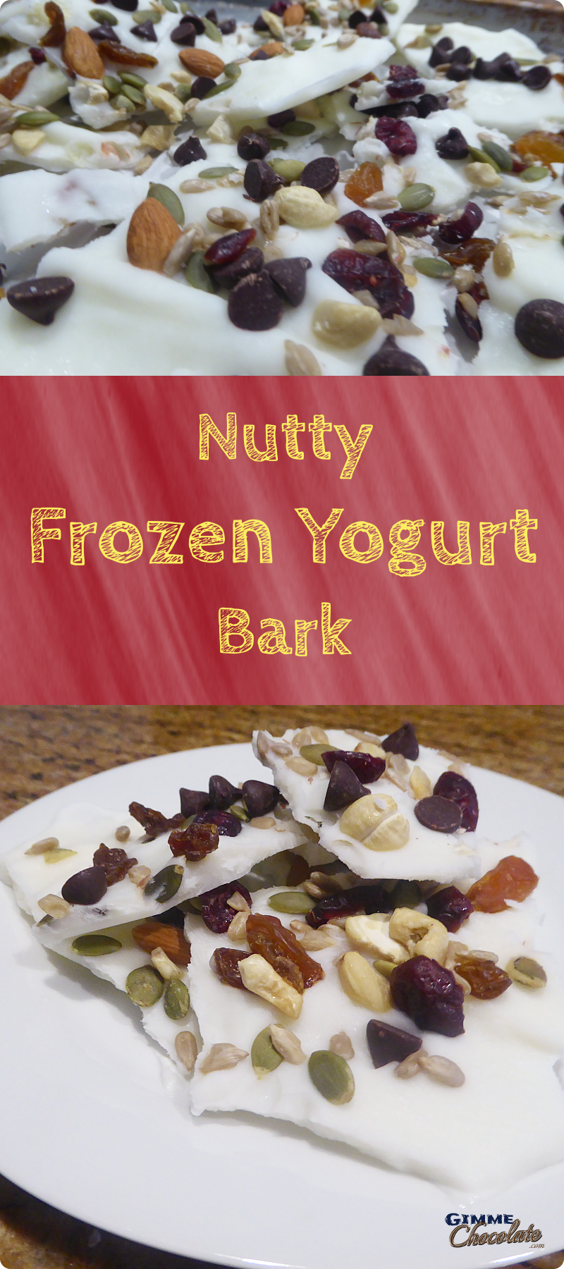 Nutty Frozen Yogurt Bark