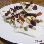 trail mix frozen yogurt bark