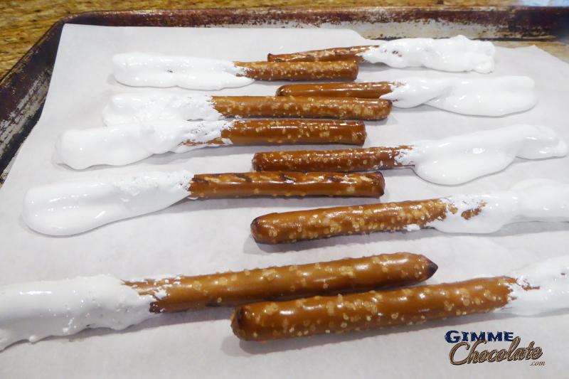fluff dipped pretzels