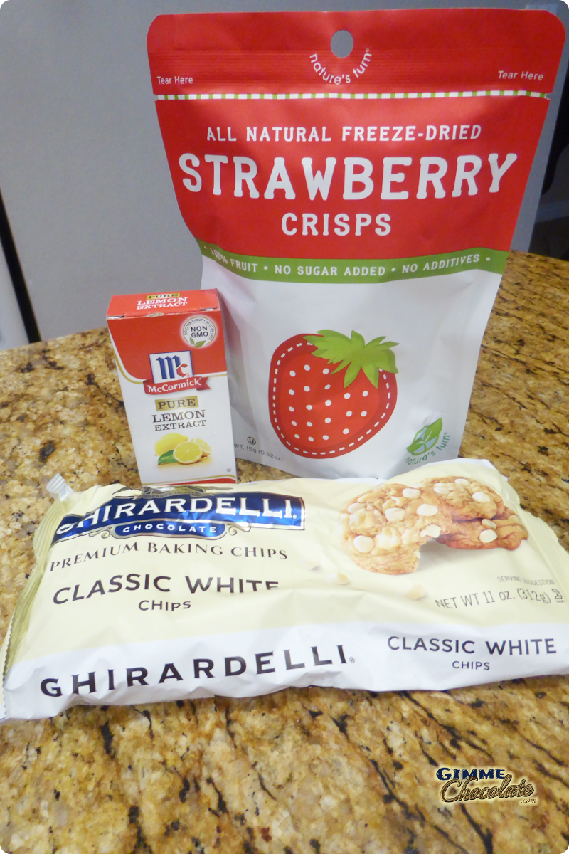 Strawberry Lemonade Bark supplies
