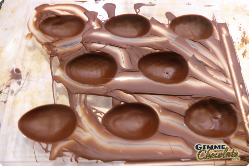 Homemade Creme Eggs Chocolate Shells