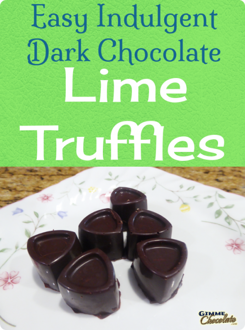 Easy Indulgent Dark Chocolate Lime Truffles