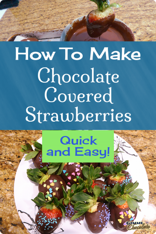 How To Make Chocolate Covered Strawberries - Quick And Easy!
